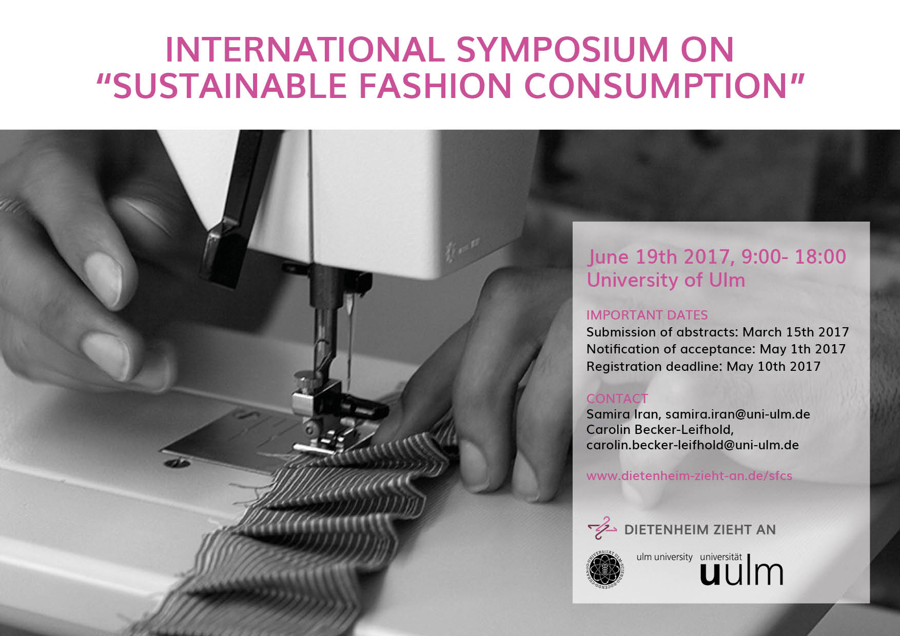Symposium on Sustainable Fashion Consumption